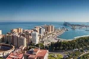 Malaga vista aerea
